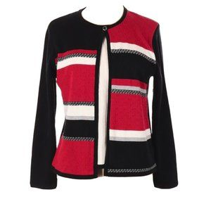 Alfred Dunner Petite cardigan and shell sweater PL